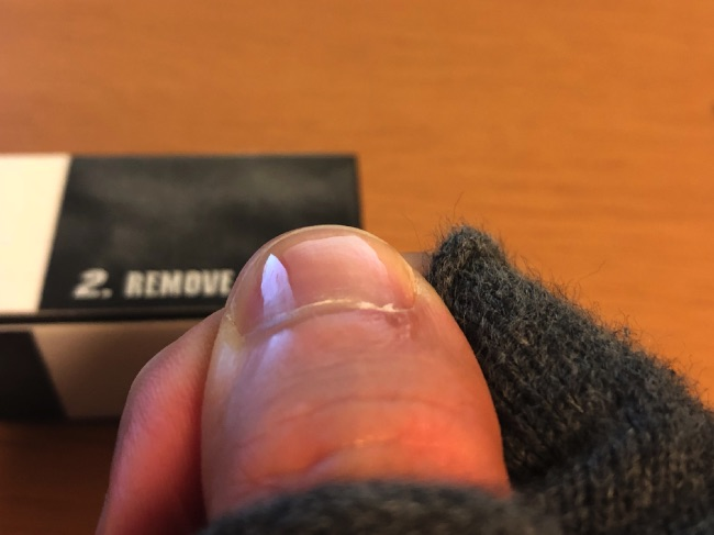爪磨き後1