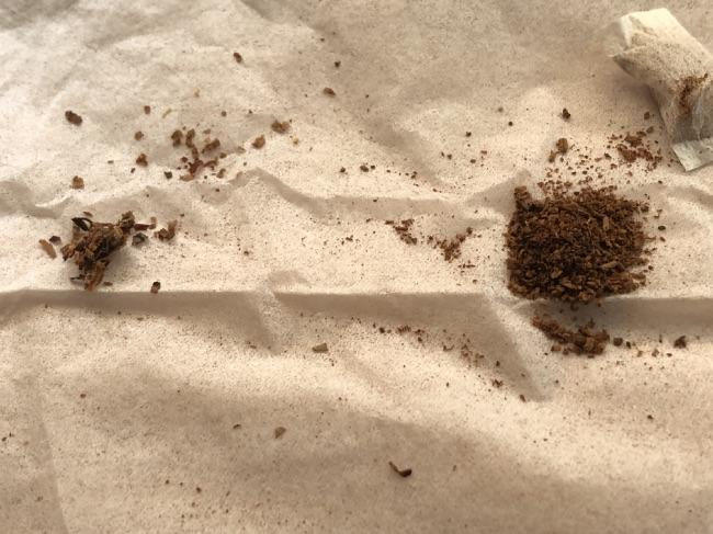 SNUSとタバコの中身比較
