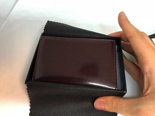 GLENCHECK-カードケース開封後写真