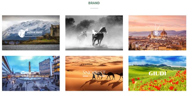 GLENCHECKサイト写真-取り扱い主要ブランド