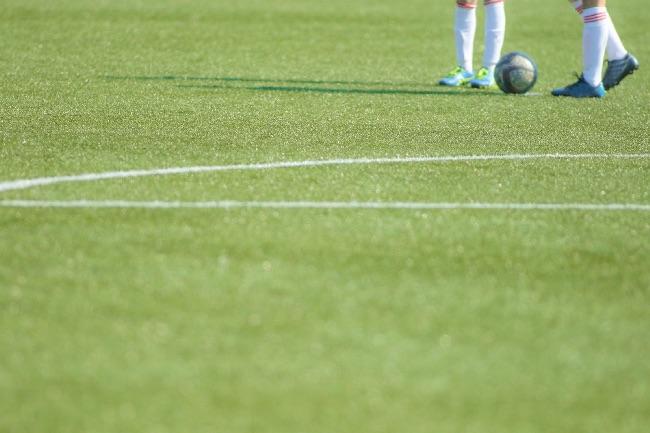 サッカーのピッチ