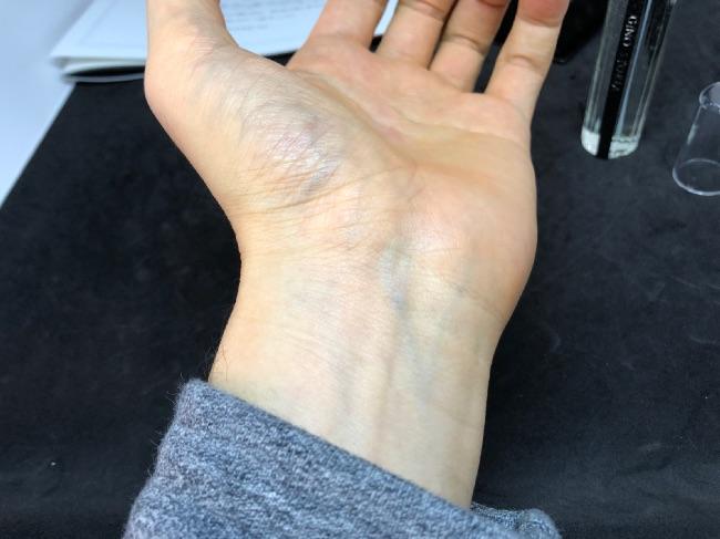 ジーノストーリアを手首につけてみた