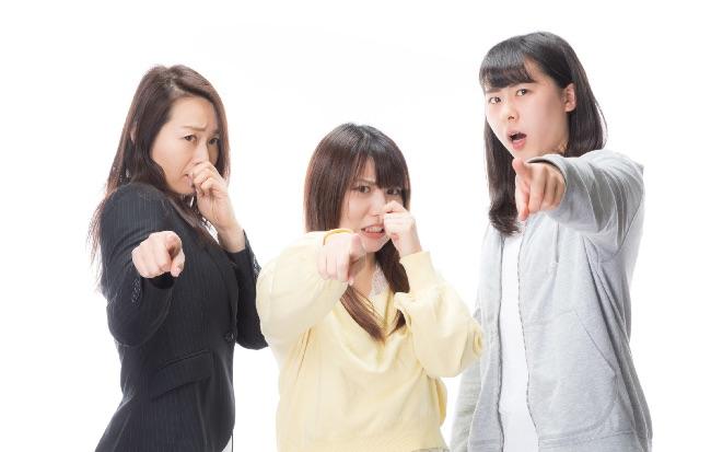 匂いに敏感な女性3人