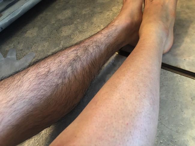 MONOVO除毛クリームを使い終わった脚は綺麗
