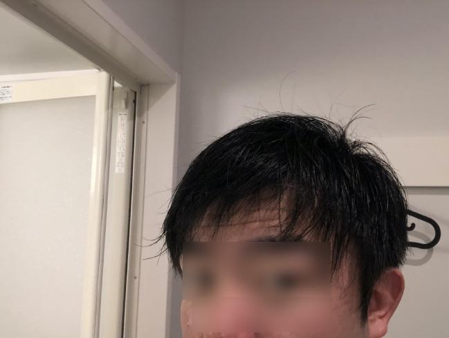 M3040で洗髪した後乾かす前