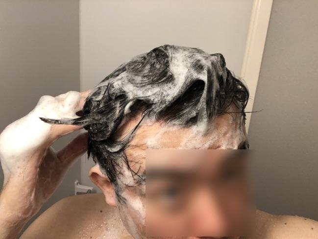 M3040で洗髪している様子