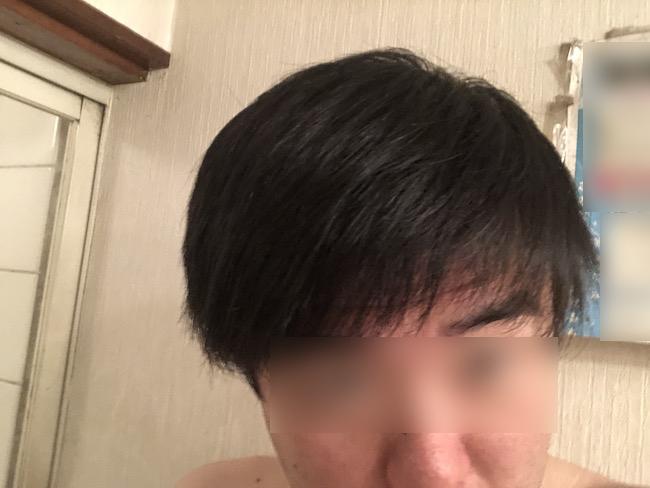 市販のシャンプー使用時のドライヤー直後の髪の毛