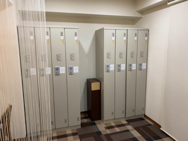 AILE上野店の着替え室