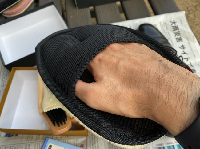 銀座大賀靴工房のムートンを装着