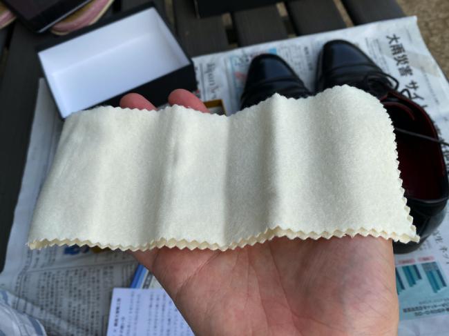銀座大賀靴工房の布